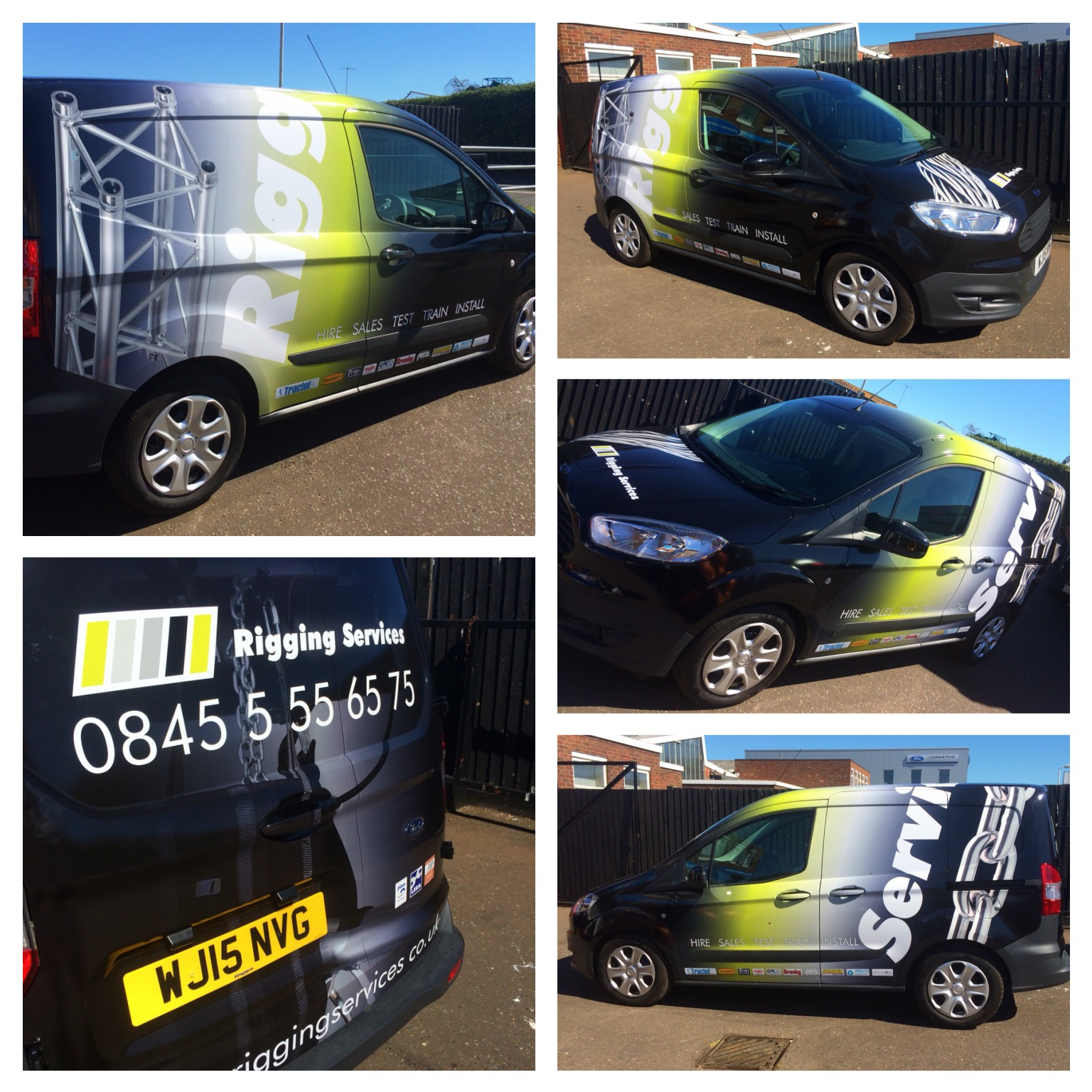 New Livery On Rigging Services Mobile Technician Vans