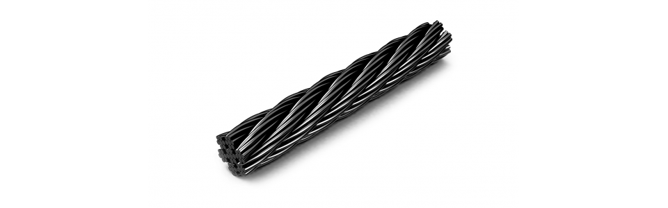 Wire rope BLACK Wire Rope 3mm dia (price per metre) 1
