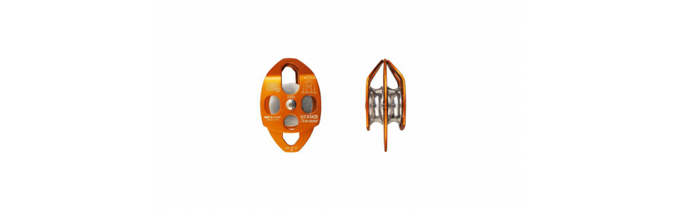 KONG - TWIN Aluminium Double Pulley