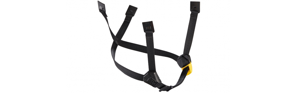 Petzl DUAL Chinstrap Black/Yellow (Standard)