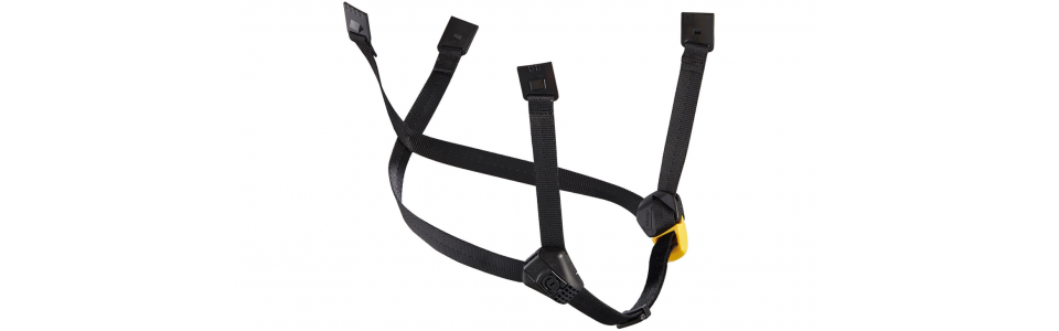 Petzl DUAL Chinstrap Black/Yellow (Extended)