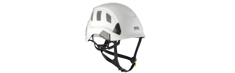 Protector shown installed on Petzl STRATO helmet