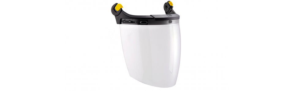 Petzl VIZEN face shield with EASYCLIP system for VERTEX and STRATO helmets