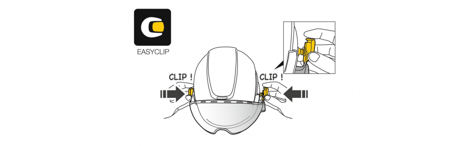 Installation is quick and easy thanks to the EASYCLIP attachment system
