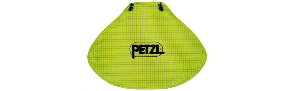 Nape protector for Petzl VERTEX and STRATO helmets (hi-viz yellow)