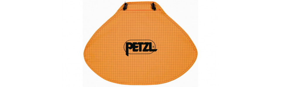 Nape protector for Petzl VERTEX and STRATO helmets (hi-viz orange)