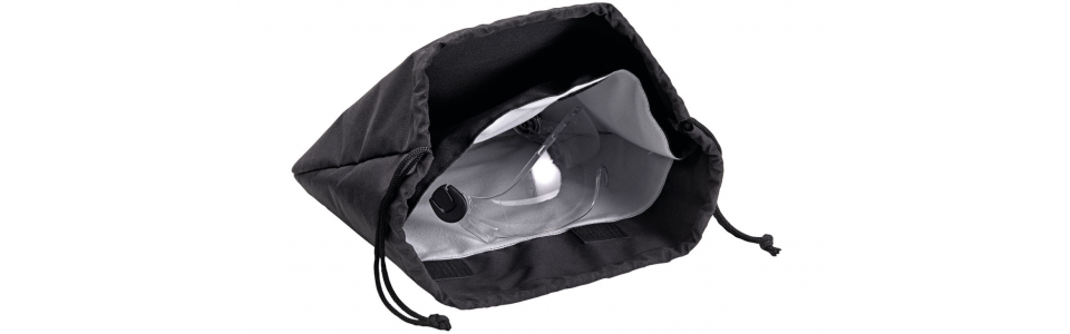 Storage bag for Petzl VERTEX and STRATO helmets (showing interior)