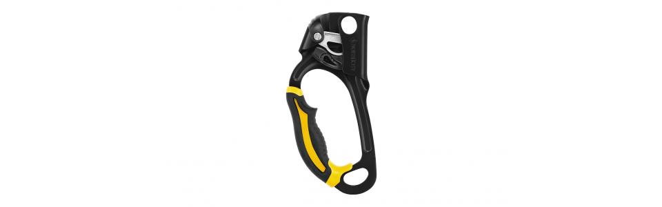 Petzl ASCENSION Handled Ascender, Black/Yellow (Left Handed)