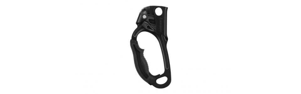 Petzl B17ALN - ASCENSION Handled Ascender, Black (Left Handed)