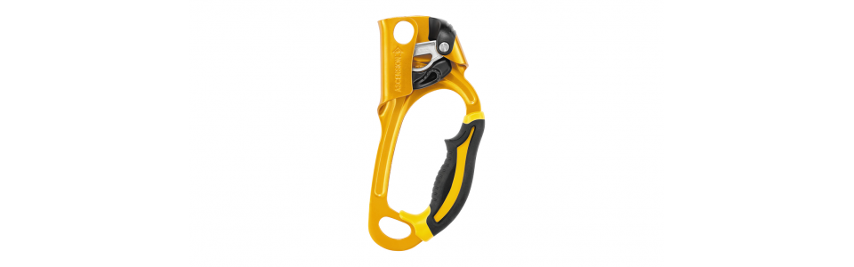 Petzl B17ARA - ASCENSION Handled Ascender, Black/Yellow (Right Handed)