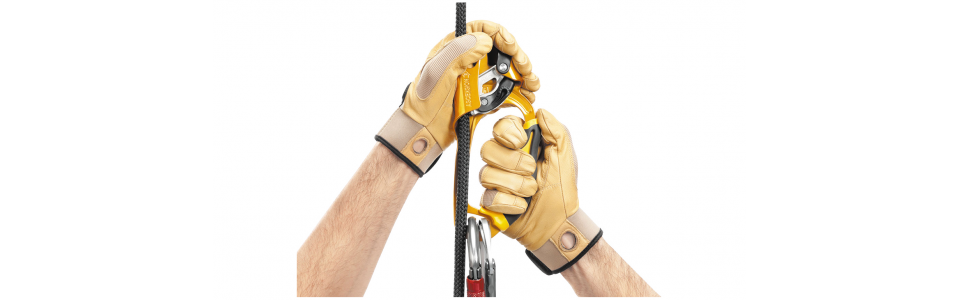 Petzl ASCENSION Handled Ascender, Black/Yellow (Right Handed)