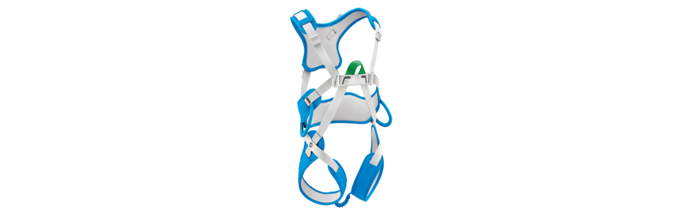Petzl OUISTITI full body kids harness (showing front).