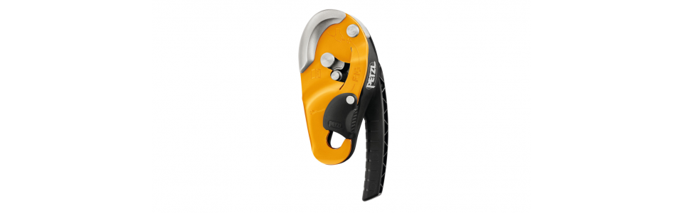 Petzl RIG compact self-braking descender, yellow