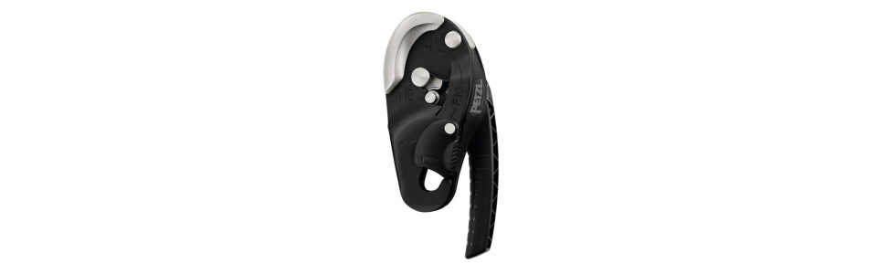Petzl RIG compact self-braking descender, black