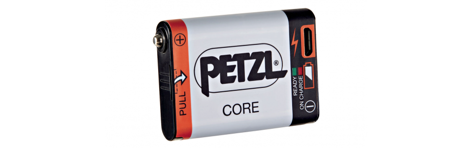 Petzl CORE rechargeable battery compatible with Petzl headtorches featuring the HYBRID CONCEPT design