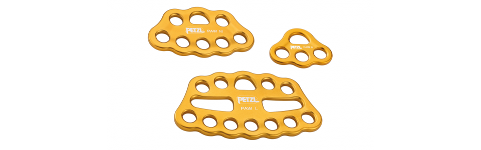 Petzl PAW Rigging Plate, Yellow