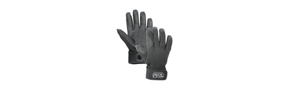 Petzl CORDEX Belay/Rappel Gloves, Black