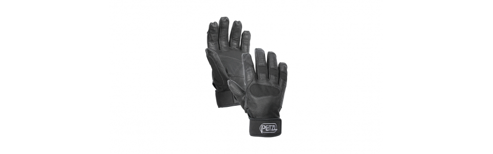 Petzl CORDEX PLUS Belay/Rappel Gloves, Black