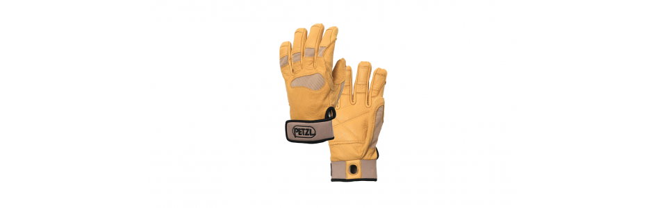 Petzl CORDEX PLUS Belay/Rappel Gloves, Beige
