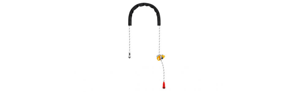 Protective sheath protects the rope from abrasive contact and enhances rope glide.