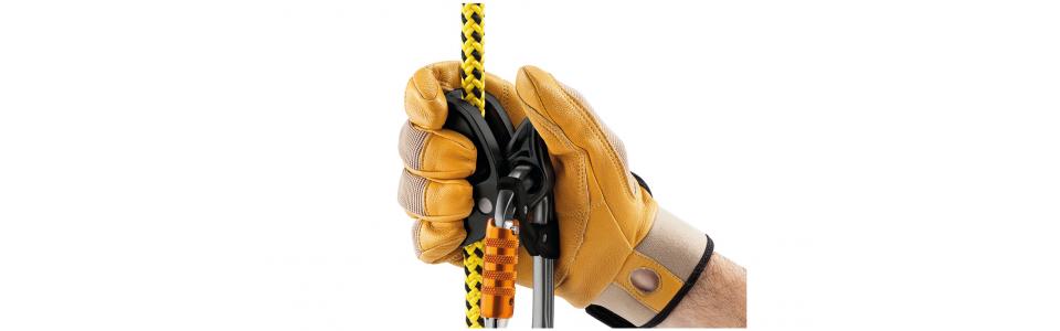 Petzl MICROFLIP Positioning Lanyard, MICROGRAB Rope Clamp