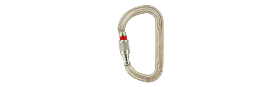Petzl VULCAN screw-lock steel karabiner, gold (EU version)