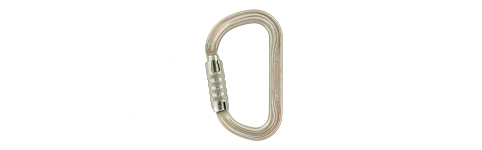 Petzl VULCAN triact-lock steel karabiner, gold (EU version)