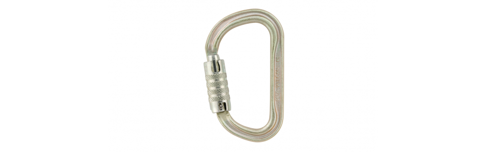 Petzl VULCAN triact-lock steel karabiner, gold (international version)