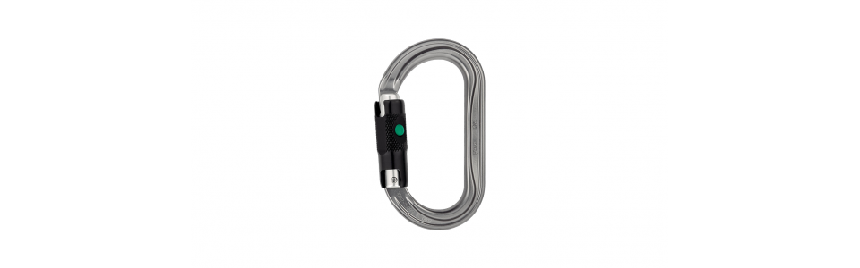 Petzl OK Ball-lock Alloy Karabiner, Grey