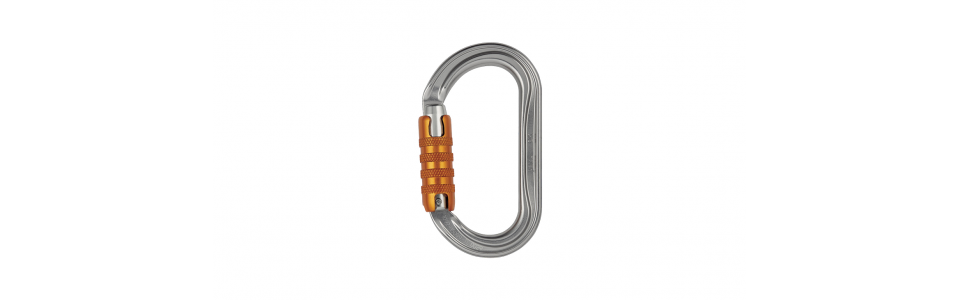Petzl OK Triact-lock Alloy Karabiner, Grey