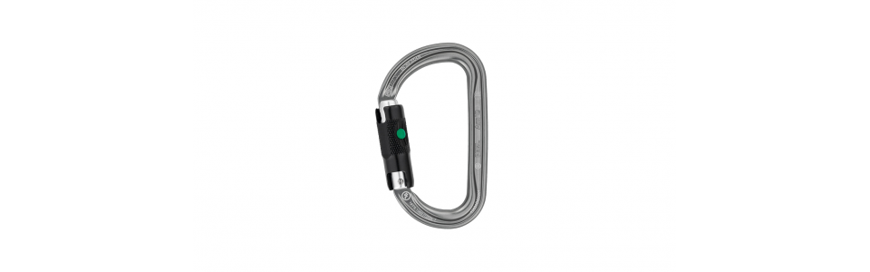 Petzl Am'D Ball-lock Alloy Karabiner, Grey