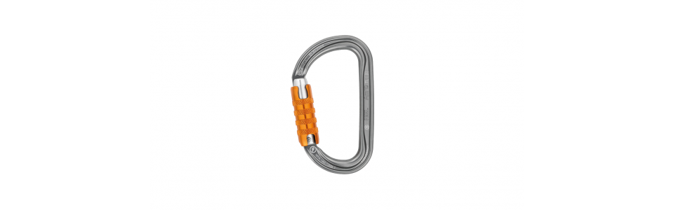 Petzl M34A TL - Am'D Triact-lock Alloy Karabiner, Grey
