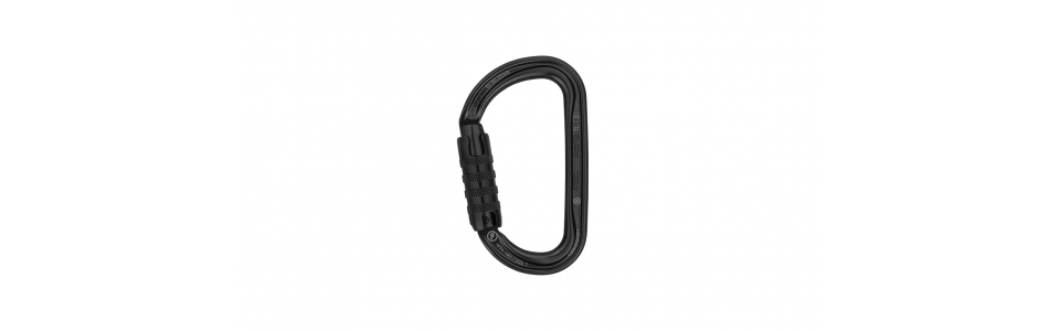 Petzl M34A TLN - Am'D Triact-lock Alloy Karabiner, Black