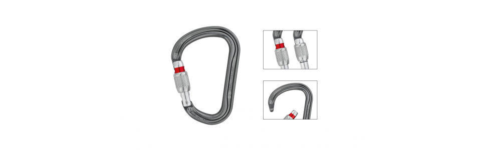 Petzl WILLIAM Screw-lock Alloy Karabiner