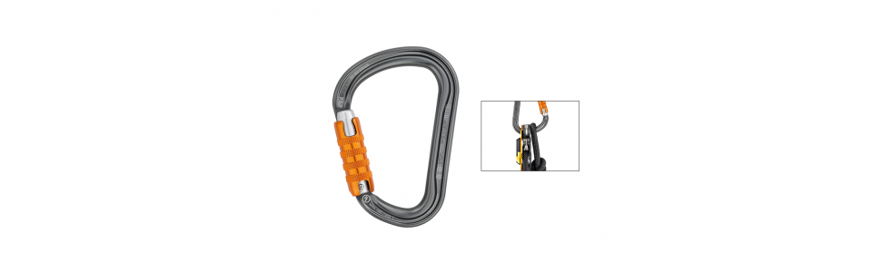 Petzl WILLIAM Triact-lock Alloy Karabiner