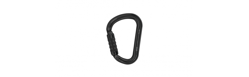 Petzl WILLIAM Triact-lock Alloy Karabiner (Black)