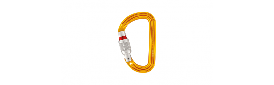 Petzl Sm'D Screw-lock Alloy Karabiner, Yellow