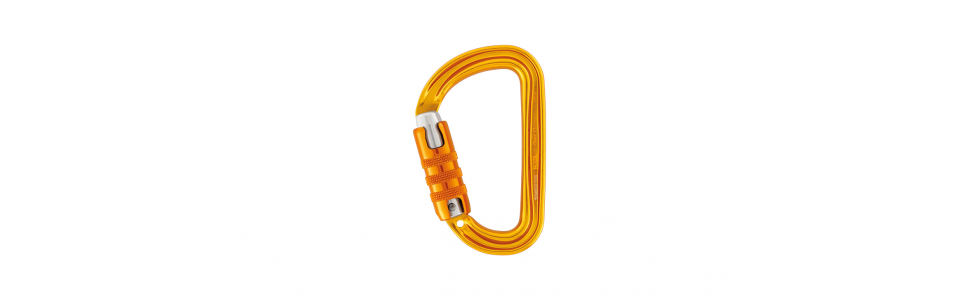 Petzl Sm'D Triact-lock Alloy Karabiner, Yellow