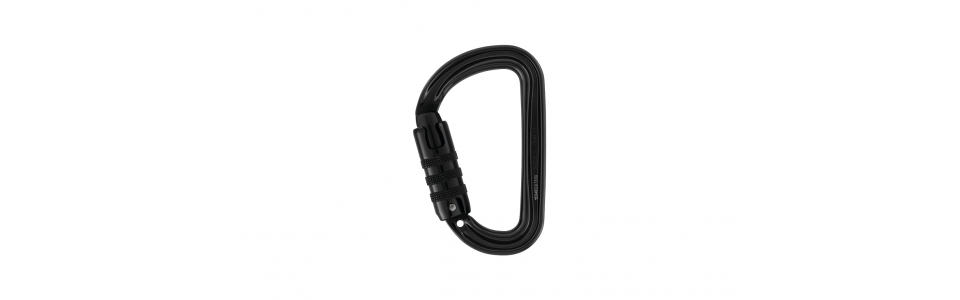 Petzl M39A-TLN - Sm'D Triact-lock Alloy Karabiner, Black