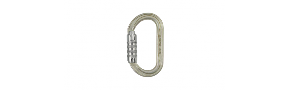 Petzl OXAN Triact-lock Steel Karabiner, Gold (EU Version)