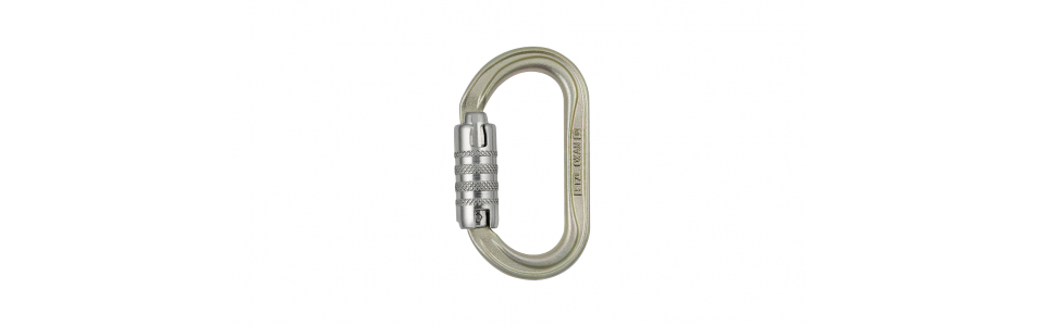 Petzl OXAN Triact-lock Steel Karabiner, Gold (Int'l Version)