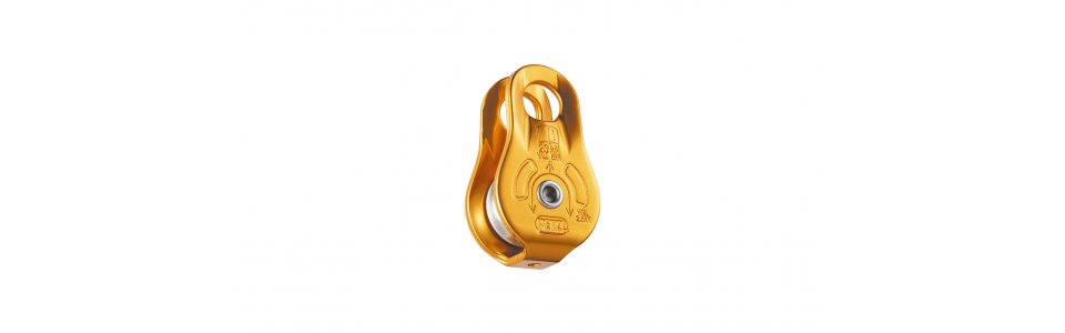 Petzl FIXE Pulley With Fixed Side Plates, Yellow