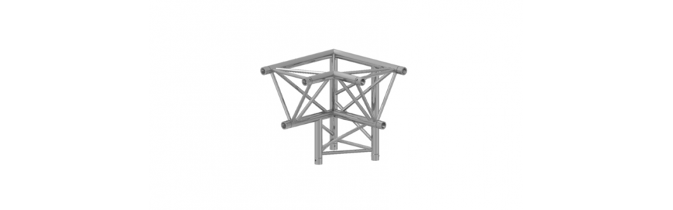 Prolyte Triangular 40 Series 3-way Corner, Right (Apex Down)