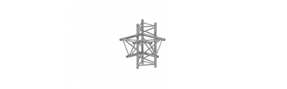 Prolyte Triangular 40 Series 4-way Corner, Right (Apex Down)