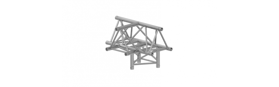 Prolyte Triangular 40 Series 4-way Corner, T-joint (Apex Up)