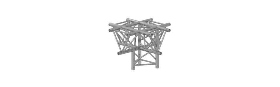 Prolyte Triangular 40 Series 5-way Corner, Horizontal (Apex Down)