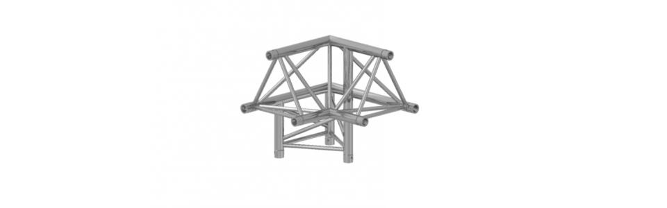 Prolyte Triangular 30 Series 3-way Corner, Left (Apex Up)