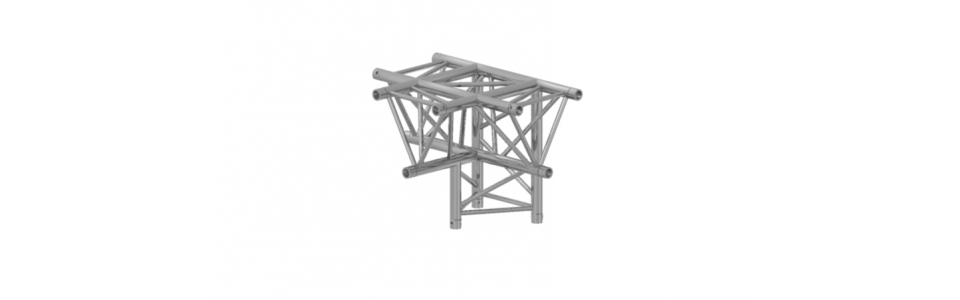 Prolyte Triangular 30 Series 4-way Corner, T-joint (Apex Down)