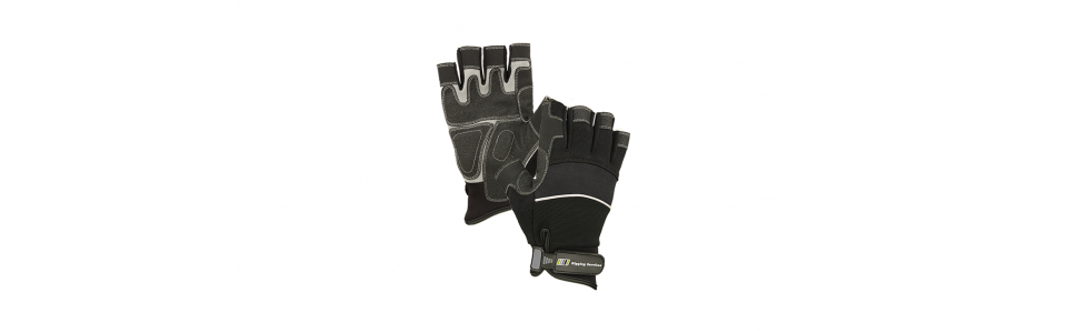 RS Noir Fingerless Black Gloves