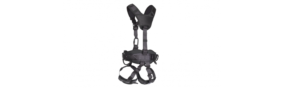 RS Noir Black Full Body Harness (rear view)